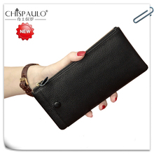 Wallet Women Luxury Brand Genuine Leather Zipper Clutch Long Purse Leather Lady Cell Phone Pocket Card Holder Travel Desigue Bag