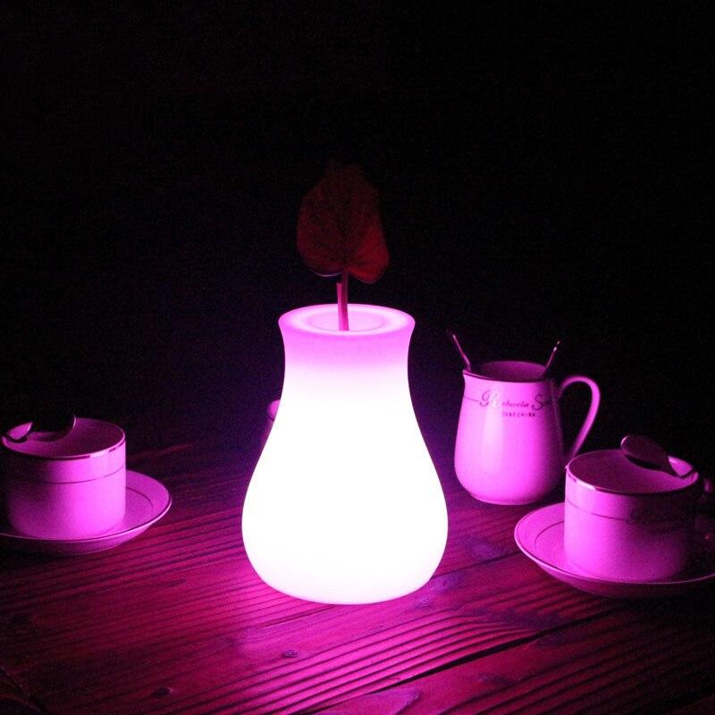 Lagere Prijs Met Kleine Vaas Led Licht 24key Afstandsbediening 16-kleur Licht Verandert Koffie Bar Restaurant Eetkamer Oplaadbare Tafellamp Laat Onze Grondstoffen Naar De Wereld Gaan