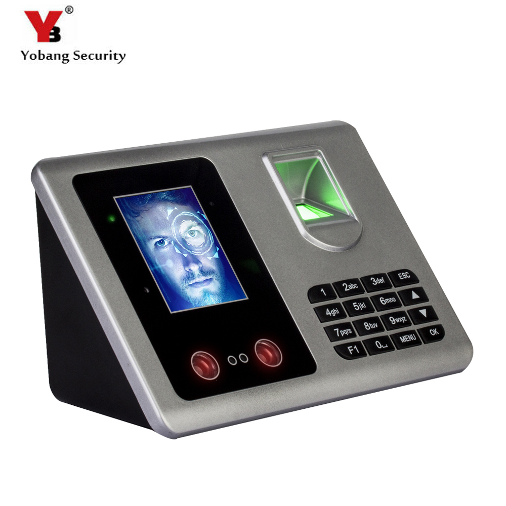 YobangSecurity 2.8Inch TFT Fingerprint+Facial Recognition Attendance Machine Time Clock Recorder Employee Checking-In Recorder beibehang 3d velvet european style soft package non woven wallpaper modern simple living room bedroom tv background wall paper