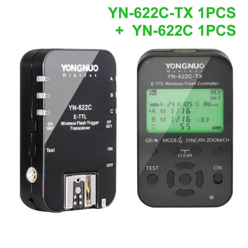 Yongnuo YN-622C + YN-622C-TX KIT Wireless TTL HSS Flash Trigger for Canon 1200D 1100D 1000D 800D 750D 650D 600D 550D 500D 5D II