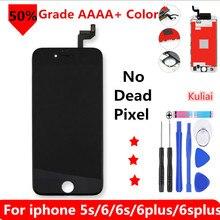 Grade AAA + + + Per il iphone 6 6 S Plus 6 più LCD Con 3D Forza Dello Schermo di Tocco Digitizer Assembly Per iPhone 5 5S Display No Dead Pixel