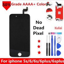 Grado AAA + + + para iPhone 6 6 S Plus 6 plus LCD con montaje de digitalizador de pantalla táctil de fuerza 3D para pantalla de iPhone 5S sin píxeles muertos