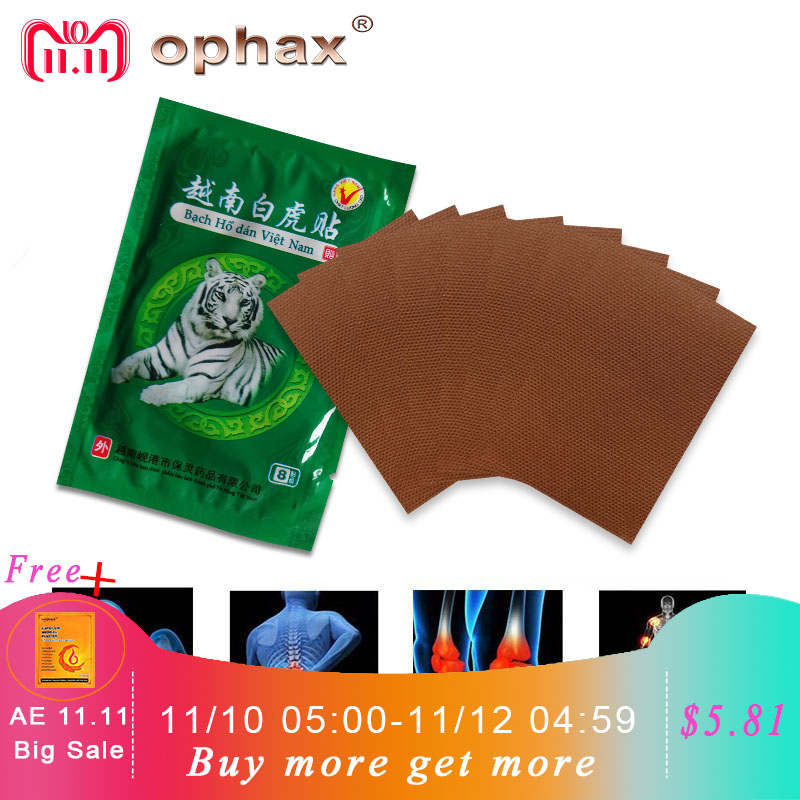цена 11.11 80pcs White Tiger Balm Pain Relieving Patch Medical Plasters Muscle Neck Shoulder Joint Back Pain Patch Health Products