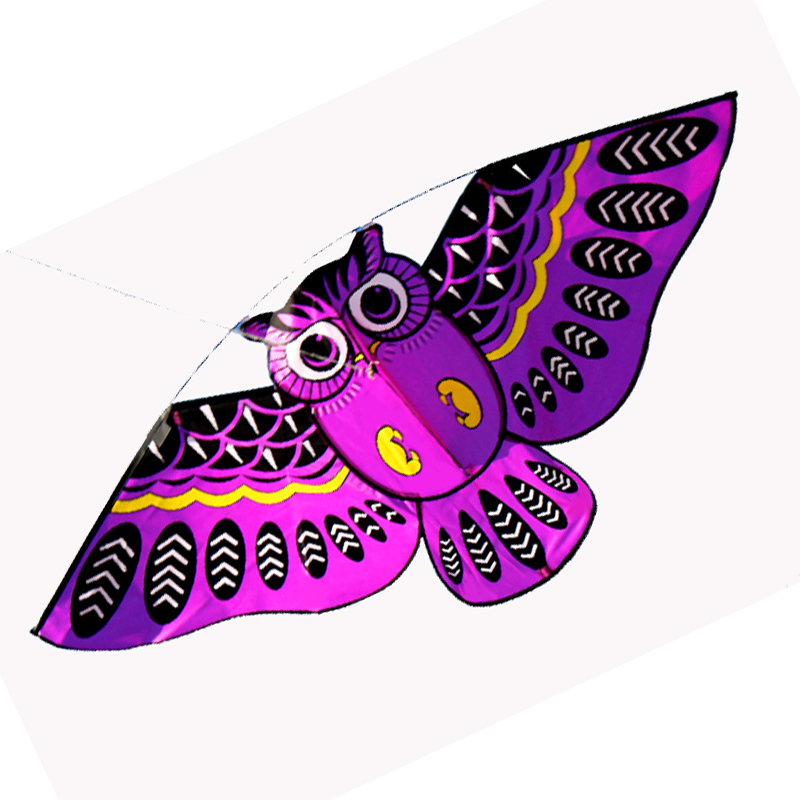 New Outdoor Fun Sports Owl Kite / KID Kites With handle and line good Flying Tools Factory Outlet