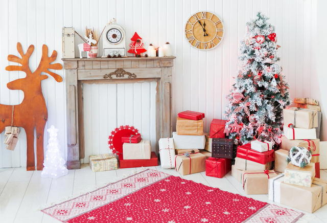 horizontal christmas decorations for home photography backdrops fireplace background photo background xt 6249