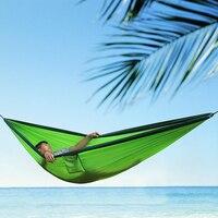 1.8 m doble persona al aire libre camping nylon Telas paracaídas hamaca Sleep swing colgante cama para viajes camping senderismo