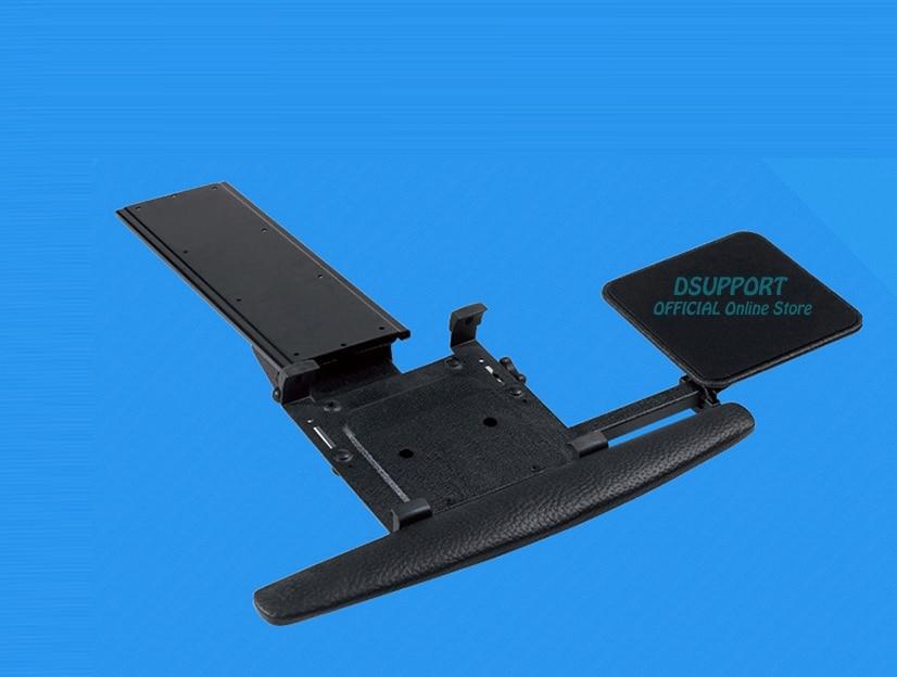 LK01 ergonomique coulissant inclinable taille XL repose-poignet support de clavier avec tapis de souris pour ordinateur bureau clavier plateau Stand