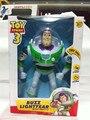 2014 Chegada Nova Toy Story 3 Buzz Lightyear Figuras de Ação Brinquedos Luzes Vozes Falam Inglês 10 polegada A16