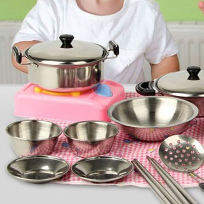 2017 New Cooking Utensils Pots Pans Food Gift Miniature Kitchen Cook