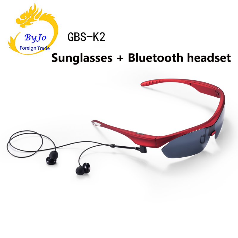 Newest K2 Bluetooth headset sunglasses Polarized Glasses music microphone Stereo wireless headset sports outdoor listening music