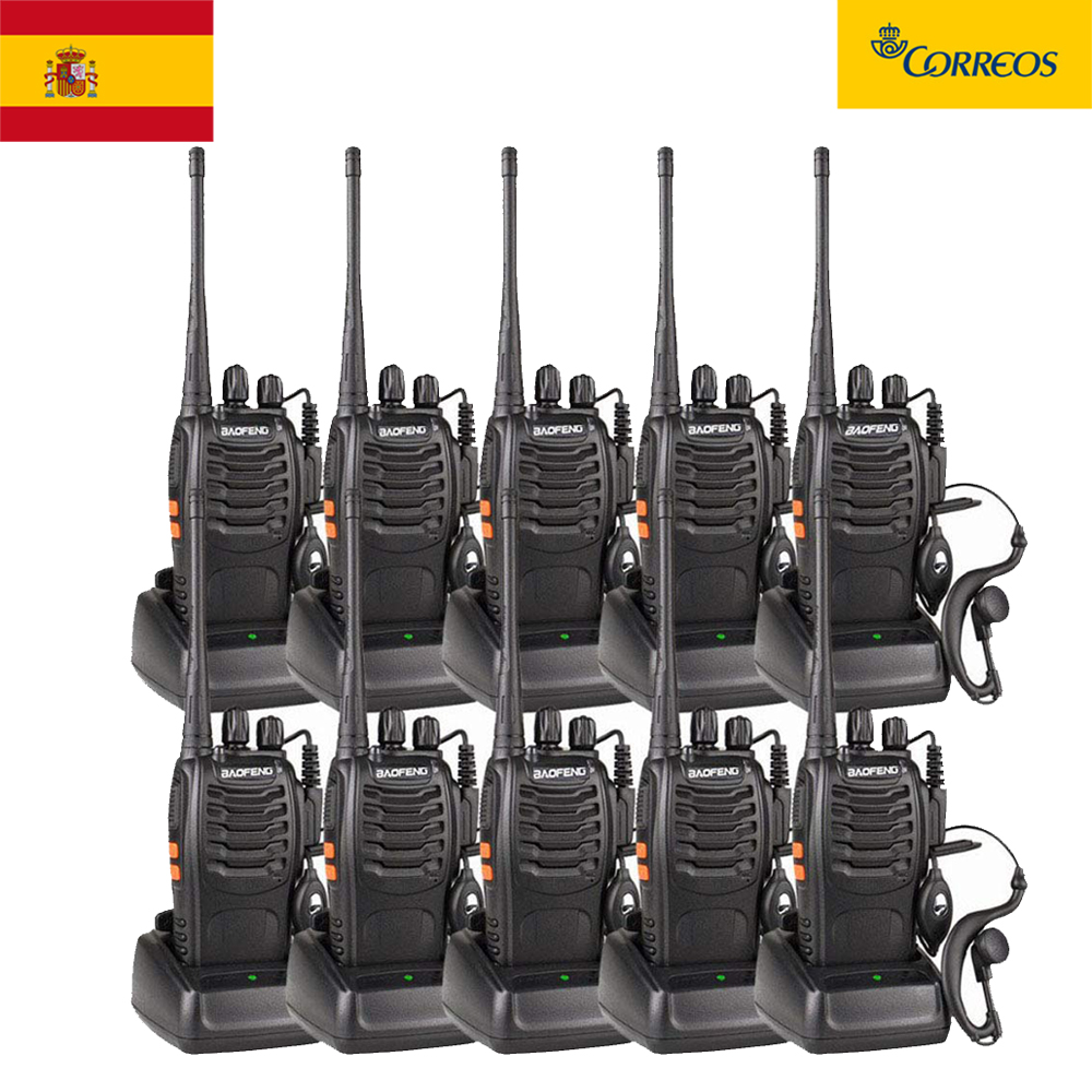 10pcs/lot BAOFENG BF-888S Walkie Talkie UHF FM Transceiver 5W Handheld Interphone 400-470MHz 16CH Two Way Portable CB Radio
