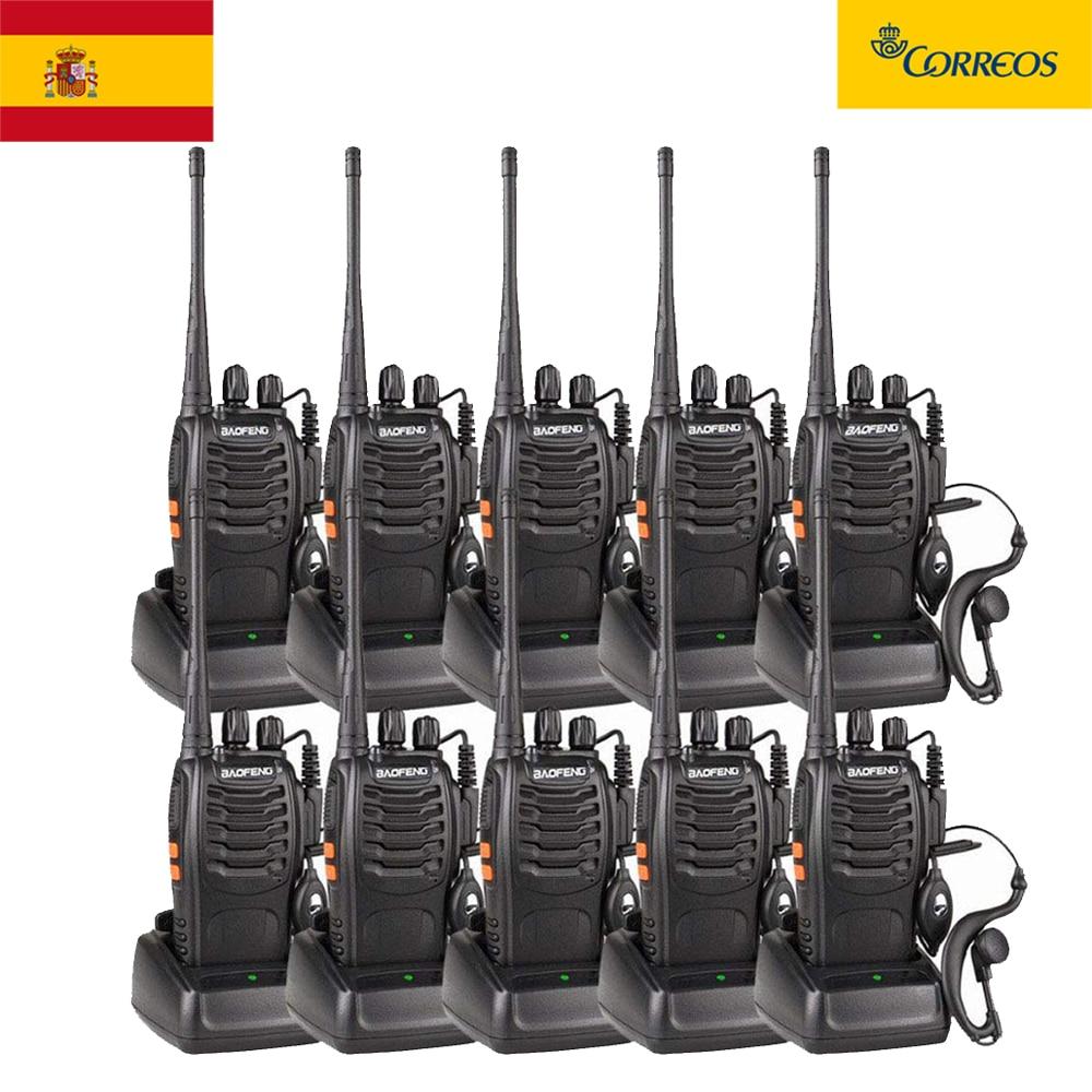 10pcs/lot BAOFENG BF-888S Walkie Talkie UHF FM Transceiver 5W Handheld Interphone 400-470MHz 16CH Two Way Portable CB Radio