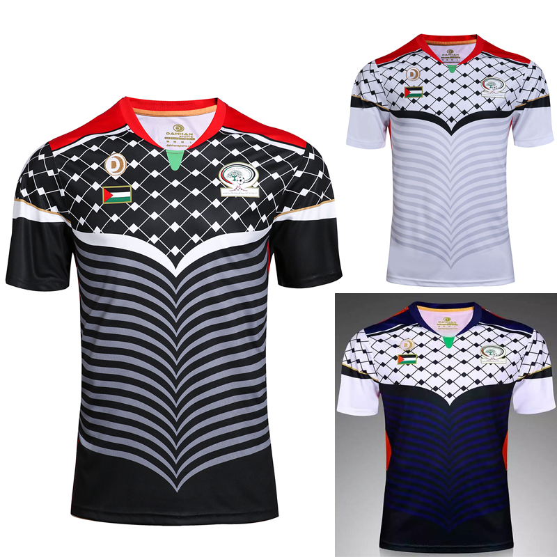 Best Quality 2017 Palestine Home Adult Soccer Jerseys man T shirts 2016 Palestine Away Free shipping Men shirts