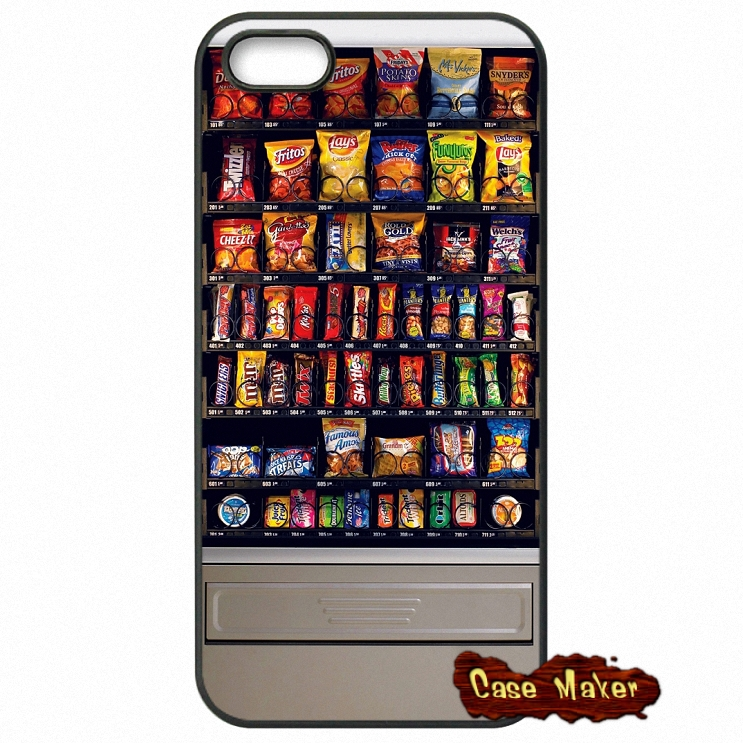 Snack Vending Machine Case Cover For iPhone SE 4 4S 5S 5 5C 6 6S Plus Samsung Galaxy S2 S3 S4 S5 MINI S6 S7 Edge Note 3 4 5