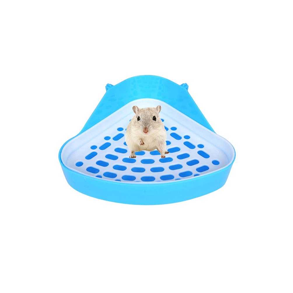 Petacc Hamster Toilet Small Animal Potty Trainer Triangle Pet Litter Box for Hamster, Rabbit and Guinea Pig