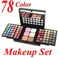 78 Cores Da Paleta Da Sombra Set 48 sombra de Olho + 24 Lip Gloss + 6 Foundation Pó Facial/Blush Kit Maquiagem Cosméticos Make UP