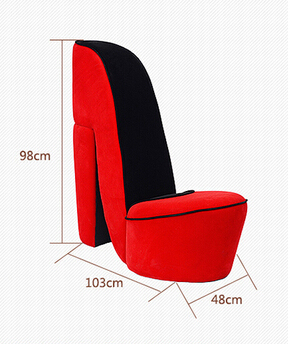 Creative high heels art lazy sofa. Chair. Clothing shoe store the living room. A single cloth art sofa