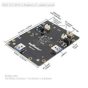 """Image 2 - Raspberry Pi 2.5 """"SATA HDD/SSD لوح تمديد التخزين ، X820 V3.0 USB 3.0 وحدة قرص صلب المحمول لتوت العليق Pi 3 نموذج B +/3B"""