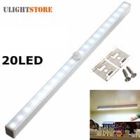 20 LED Wireless PIR Motion Sensor Battery Power Cabinet Drawer Light Closet Cabinet Lamp Night Light