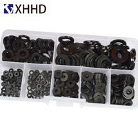 Black Nylon Flat Washer Plated Head Spacer Plastic Insultion Seals Gasket Ring Set Assortment Kit Box M2 M2.5 M3 M4 M5 M6 M8 Washers     -