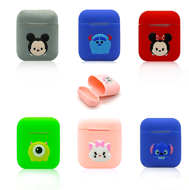 New Cartoon Soft Silicone Case For Apple Airpods Shockproof Cover For Apple AirPods Earphone Cases Cute Air Pods Protector Case in Earphone Accessories from Consumer Electronics