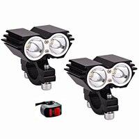 Moto rcycle LED Koplampen werklampen led 12v 60w moto Extra lamp moto rbike fog lamp spot hoofd lamp waterdicht accessoires