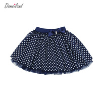 2016 Fashion Summer Brand Clothing Children Girls Cute Baby Kids Print Bow Dot Tutu Cotton Skirts