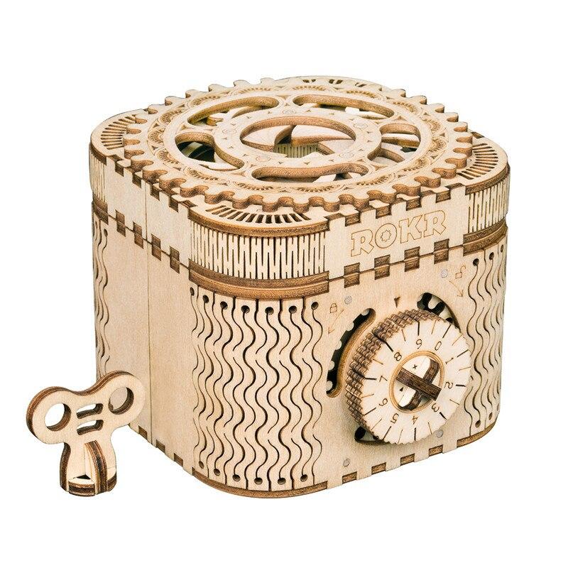 Robotime DIY creativo 3D caja del Tesoro y calendario de madera juego de Puzzle Asamblea Toy regalo para niños adolescentes adultos LK502