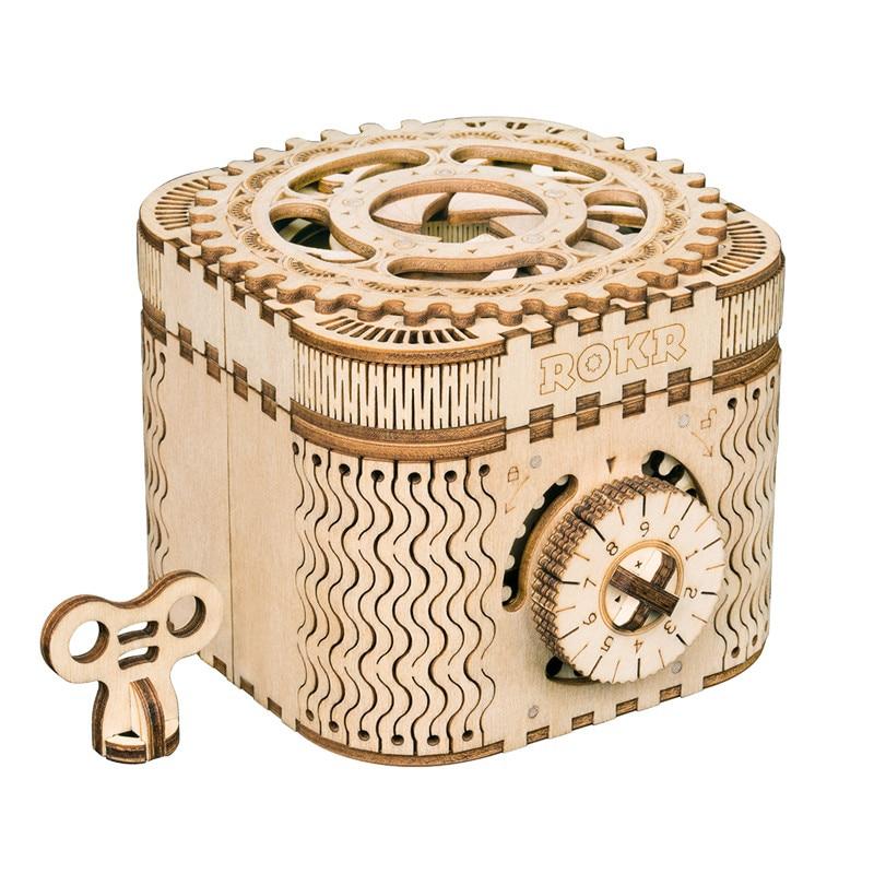 Robotime DIY creativo de 3D caja del Tesoro y calendario juego de rompecabezas de madera asamblea de peluche de juguete de regalo para niños adolescentes adultos LK502