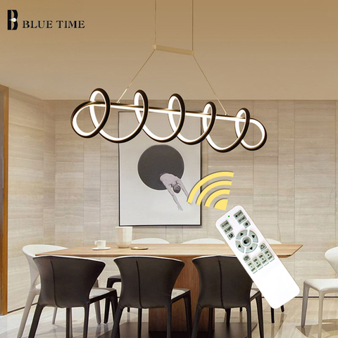 novo estilo preto branco moderno led pingente luzes para sala de estar sala de jantar