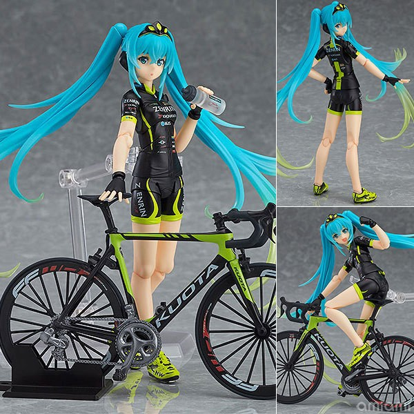 Hatsune Miku Figma 307 Racing Miku 2015 TeaomUKYO Support ver. PVC Action Figure Collection Model Toy 14cm image