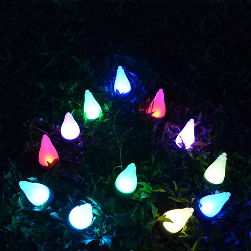 New Seven Solar Lawn Outdoor Decorated Patio Decorative Lights Landscape  Lamp US Glow Party Supplies(