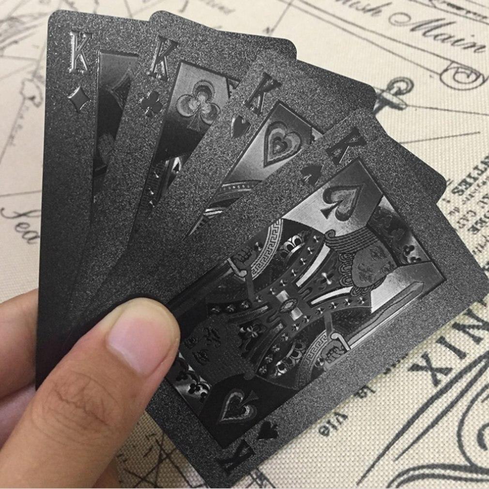 54pcs/pack Plaid/ Laser Waterproof PVC Plastic Playing Cards Set 57*87MM Poker Card Set Magic Tricks Tool