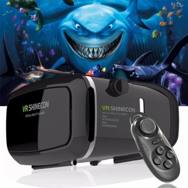 Лидер продаж! 2018 Google cardboard VR shinecon Pro версии виртуальной реальности 3D очки + Smart Bluetooth Беспроводной удаленного Управление геймпад