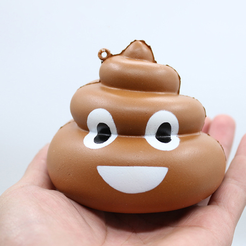 Cute Rubber Car Ornaments Auto Interior Decorations Poo Squishy Toys Squeeze Ornament Car Styling Charm Kids