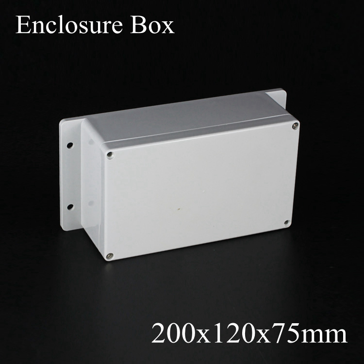 200*120*75mm IP66 ABS Waterproof electronic enclosure project box Distribution control switch junction outlet case 200x120x75mm стоимость