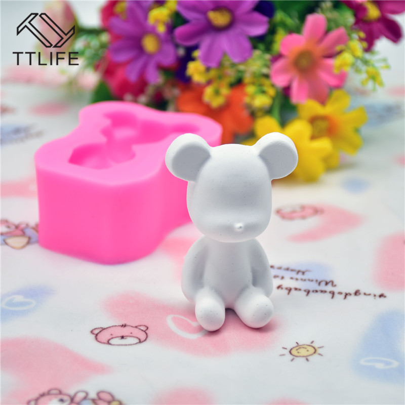 TTLIFE Hairy Bear Silicone Mold Animal Fondant Cake Pastry Decorating Tools Dessert Chocolate Cookie Baking Mould Kitchen Gadget in Cake Molds from Home Garden