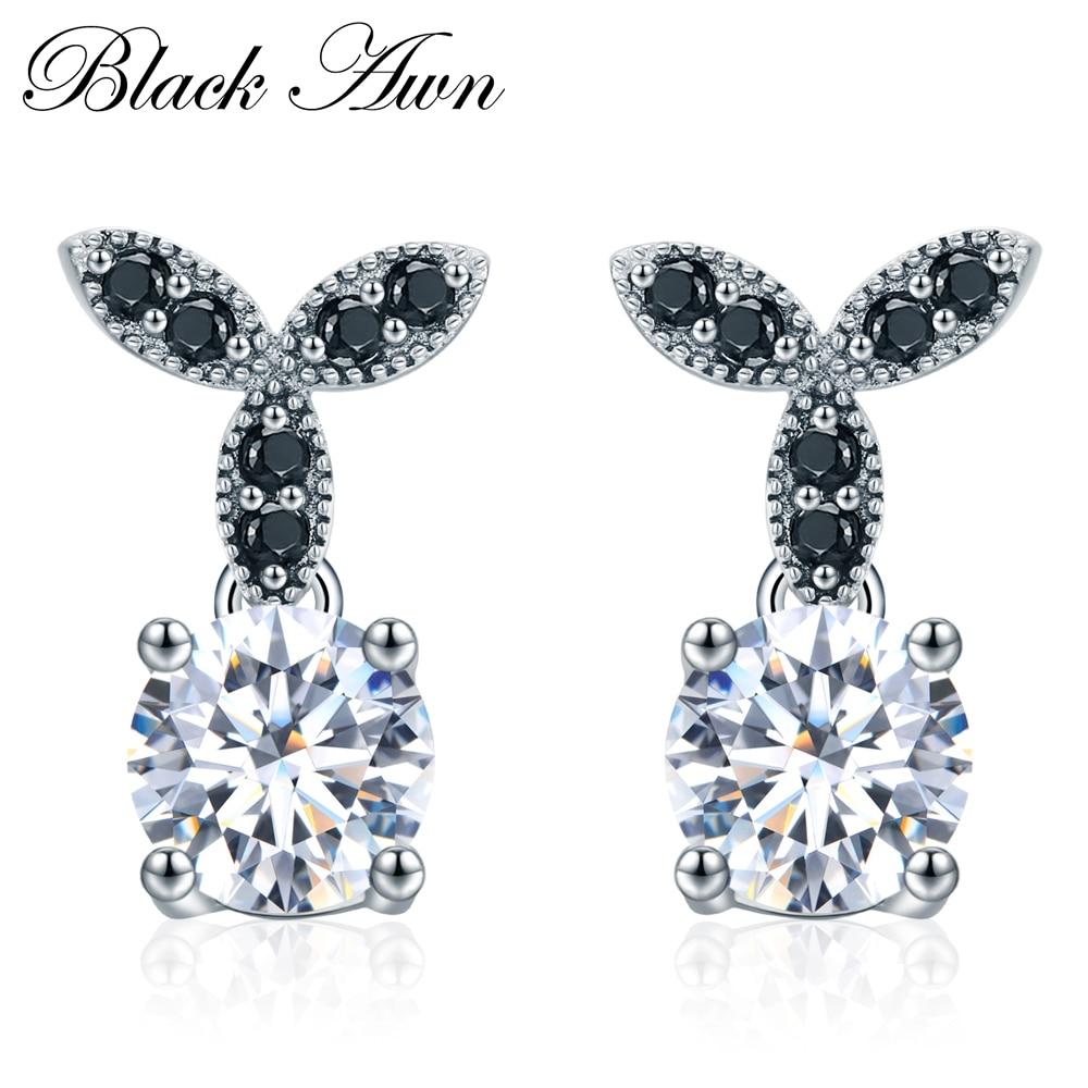 [BLACK AWN] 925 Sterling Jewell Fine Jewells Sets Trendy Anglement - Bizhuteri të bukura - Foto 4