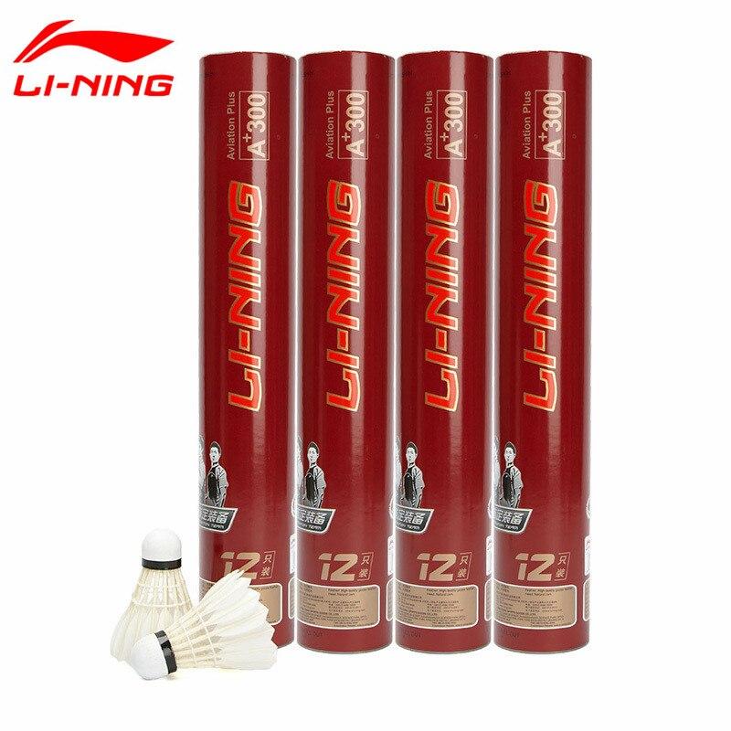 1 Tube Li Ning A 300 Badminton Match Goose Feather Flying Stability Durable Birdies Li Ning