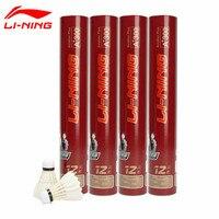 1 Tube Li Ning A+300 Badminton Match Goose Feather Flying Stability Durable Birdies Li Ning Ball Battledore AYQD024 L669OLA