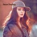 Fashion New Vintage Parent-child Fedoras Cap Wool Felt Fedora Cloche Hat Autumn Winter Retro Womens Girls Hats Cute Caps