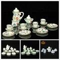 1/12 Dollhouse Miniatura Comedor Ware Porcelain Tea Set Plato Placa Taza 15 unids Niño juguete clásico Envío Libre
