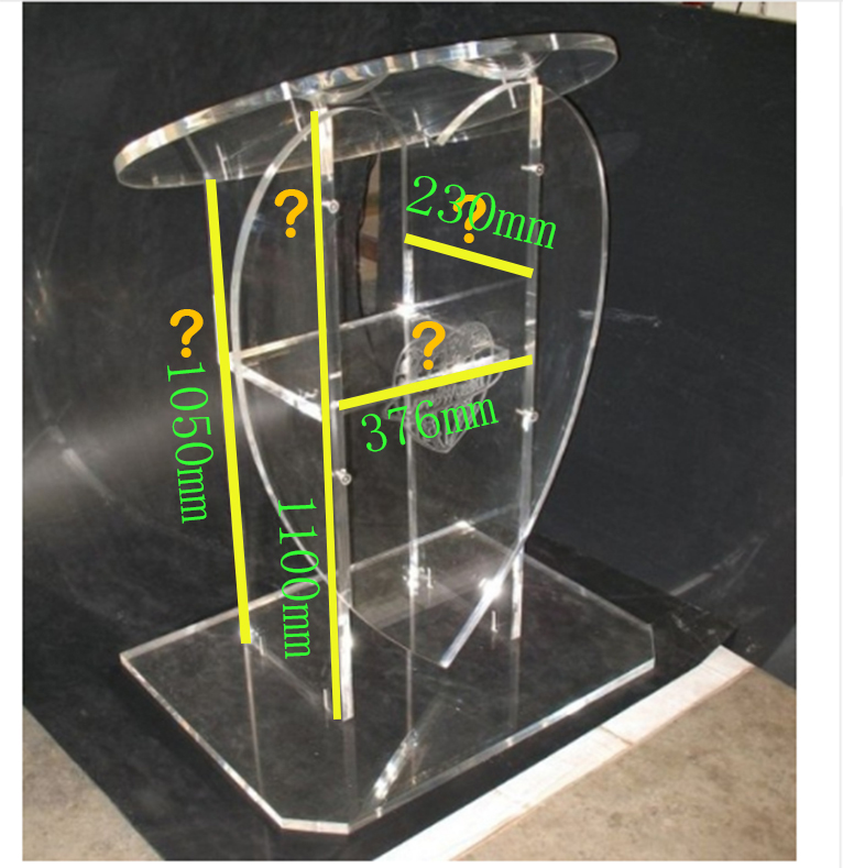 Free Shipping Transparent Cheap Acrylic Lectern Podium Transparent Pulpit