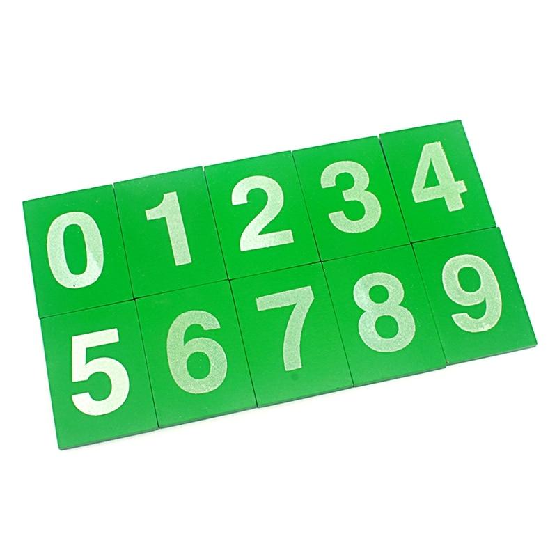 Montessori Baby Toy Math Mini Size Wood Sandpaper Number 0-9 Green Board Early Childhood Education Preschool Training Kids Toys