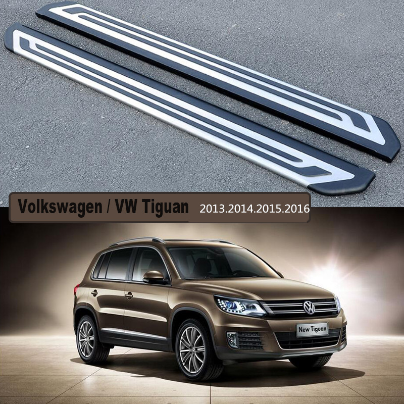 Volkswagen European Delivery >> For Volkswagen VW Tiguan 2013.2014.2015.2016 Car Running Boards Auto Side Step Bar Pedals High ...