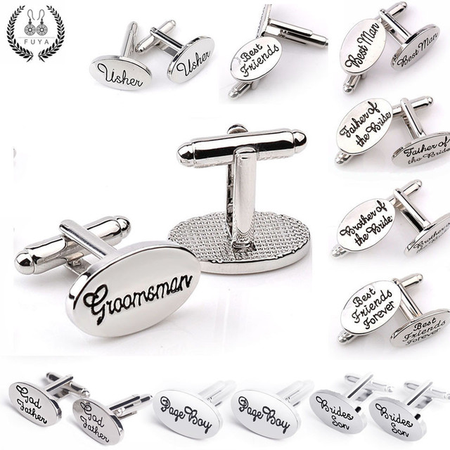 Trendy Father Groom Son Friends Wedding Cufflinks Buttons Jewelry