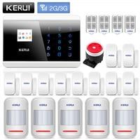 KERUI 8219G 3G Home Business GSM PSTN Dual Alarm Security System Auto Dial With Door Sensor
