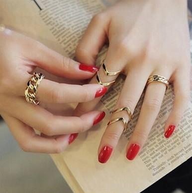 HTB1Tk7XHpXXXXaGXpXXq6xXFXXXy 3-Pieces Dazzling Gold Adjustable Cuff Finger Ring Gift Set For Women