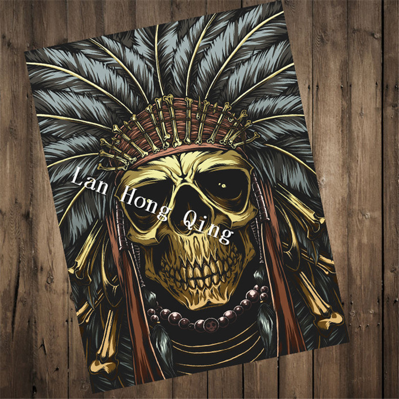 Hm-98 Лидер продаж татуировки рисунком kraft Бумага плакат о жнец Гостиная Краски стены Книги по искусству ремесел Стикеры дома декор