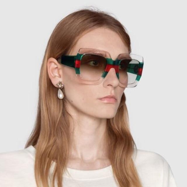 81f02954bb18e 2018 Marca De Luxo Itália Praça de Grandes Dimensões Óculos De Sol Das  Mulheres do Desenhador